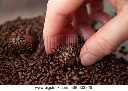 Close-up Of Woman Hand Making Delicious And Traditional