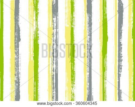 Pain Thin Straight Lines Vector Seamless Pattern. Trendy Cotton Fabric Print Design. Old Style Geome