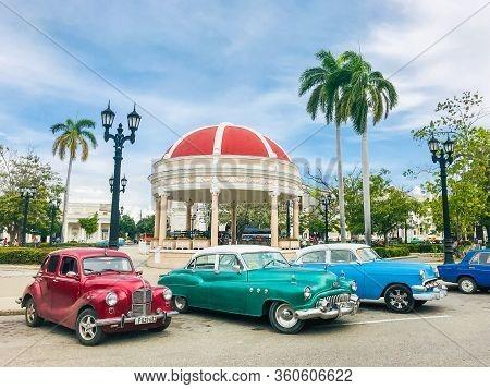 Old American Car Parked On The Street In Havana Cuba