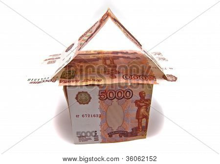 Building Of Russian Rubles Banknotes