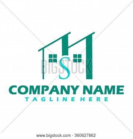 Real Estate Vector Logo Design, Eco Real Estate Logo, Tree With Real Estate Logo, Building Logo Desi