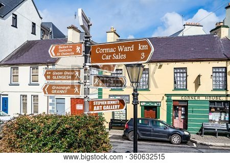Ardara, County Donegal , Ireland - March 13 2020 : Ardara Town Is Still Busy During The Corona Outbr