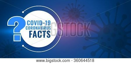 Covid19 Coronavirus Facts And Question And Answer Background