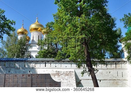 Cathedral Of The Nativity Of The Virgin In Kostroma. Gold Ring Of Russia