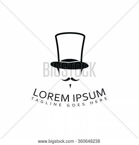 Simple Stylish Uncle Sam's Stovepipe Hat Logo Design Vector Isolated On White Background