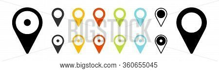 Gps Location. Map Pointer Icon. Travel And Tourism. Isolated Over White Background. Vector Illustrat