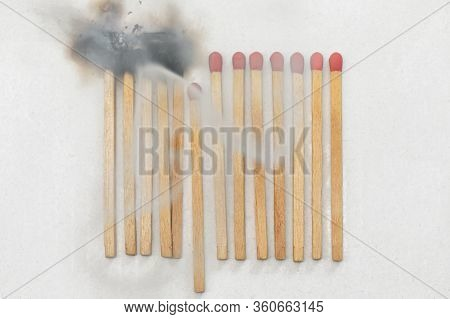 Symbolic Matches Stay Away Each Other Keeping Social Distance