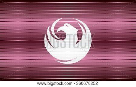 Shiny Grunge Flag Of The Phoenix - Illustration,  Three Dimensional Flag Of Phoenix