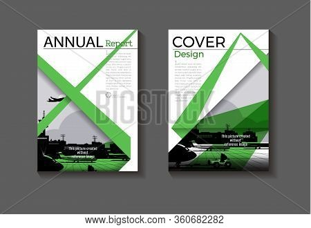 Green Modern Cover Abstract  Cover Book Brochure Template, Design, Annual Report, Magazine And Flyer