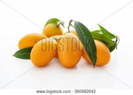 Fresh Marian Plum Isolated On White Background