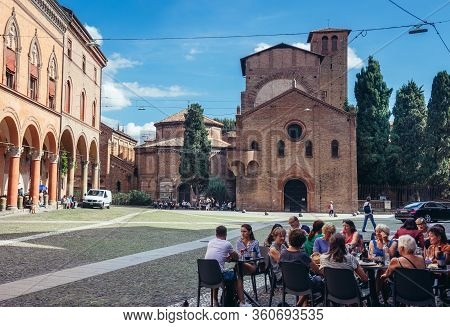 Bologna, Italy - September 30, 2019: Churches Of Saint Stephen And Holy Sepluchre Located Od St Step