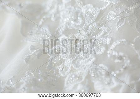 Wedding Dress Lace Close Up Macro