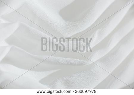 White Woven Wedding Dress Fabric