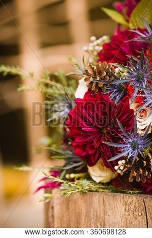 Seasonal Autumn Bridal Bouquet