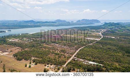 An Aerial View Of  Lanta Noi Island And Land Use Of Lanta Isaland, South Of Thailand Krabi Province,