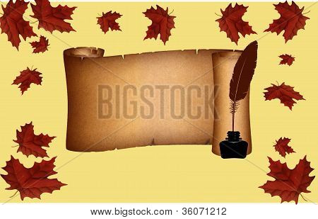 Autumn pergament cripture