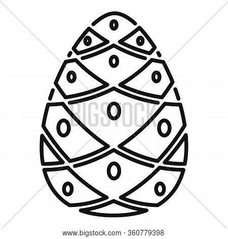 Cedar Pine Cone Icon. Outline Cedar Pine Cone Vector Icon For Web Design Isolated On White Backgroun