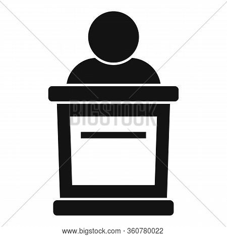 Criminal Tribune Icon. Simple Illustration Of Criminal Tribune Vector Icon For Web Design Isolated O