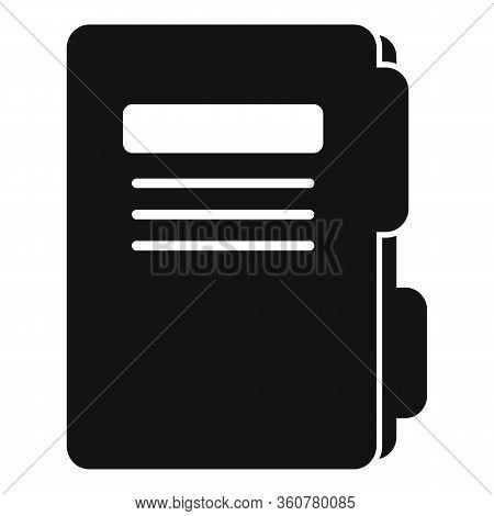 Police Criminal Folder Icon. Simple Illustration Of Police Criminal Folder Vector Icon For Web Desig