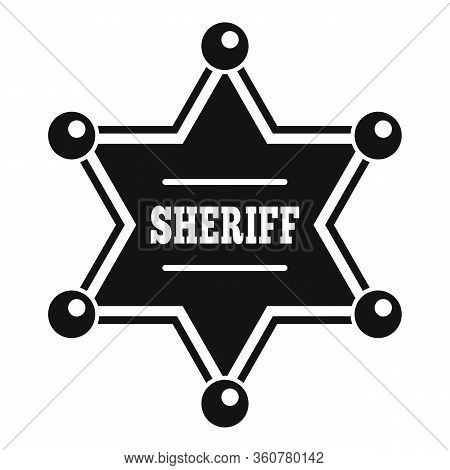Sheriff Star Icon. Simple Illustration Of Sheriff Star Vector Icon For Web Design Isolated On White