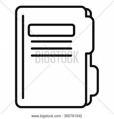 Police Criminal Folder Icon. Outline Police Criminal Folder Vector Icon For Web Design Isolated On W