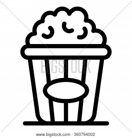 Popcorn Icon. Outline Popcorn Vector Icon For Web Design Isolated On White Background