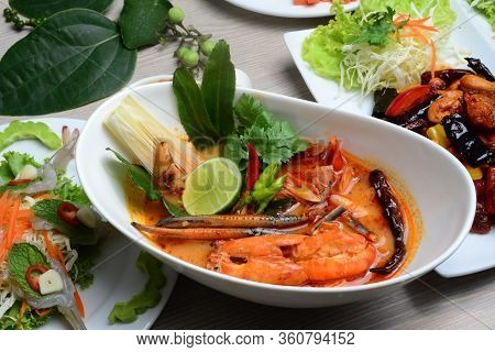 River Prawn Spicy Soup,(in Thai: Tom Yum Goong Or Tom Yum Kung) Is Probably The Most Famous Of Thai