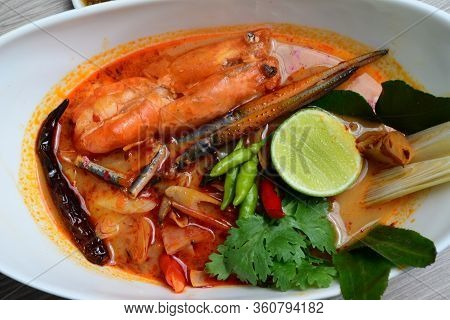 River Prawn Spicy Soup, (in Thai: Tom Yum Goong Or Tom Yum Kung) Is Probably The Most Famous Of Thai