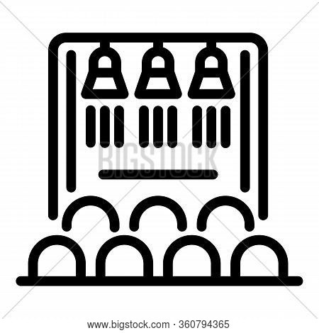 Public Audience Icon. Outline Public Audience Vector Icon For Web Design Isolated On White Backgroun