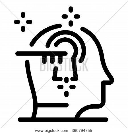 Open Minded Icon. Outline Open Minded Vector Icon For Web Design Isolated On White Background