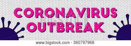 Abstract Coronavirus Geometric Flat For Infographic Design. Dotted Pattern Background.  Illness Sign