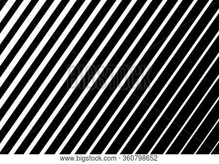 White Diagonal Stripes On Black Background. Design For Website, Presentation, Wallpaper, Banner And