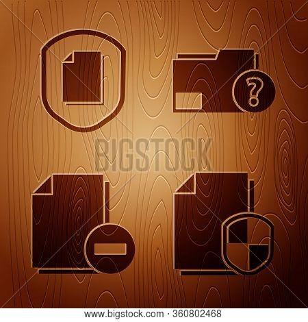Set Document Protection Concept, Document Protection Concept, Document With Minus And Unknown Docume