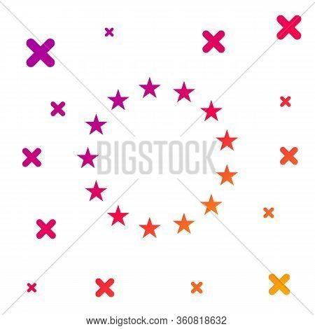 Color Flag Of European Union Icon Isolated On White Background. Eu Circle Symbol. Waving Eu Flag. Gr