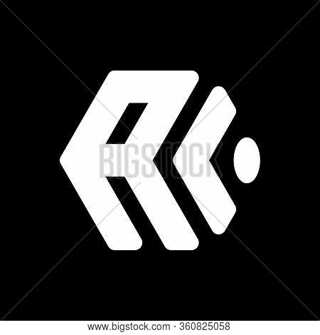 Initial Letter A L Or C Logo Template With Modern Cube Symbol In Flat Design Monogram Illustration