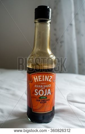 Torrevieja, Valenciana, Spain - Apr 12 2020 : Bottle Of Heinz Asian Soja Sauce