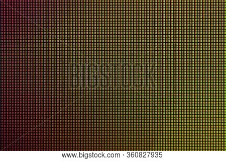 Closeup Led Diode From Led Tv And Led Monitor Screen Display Panel.
