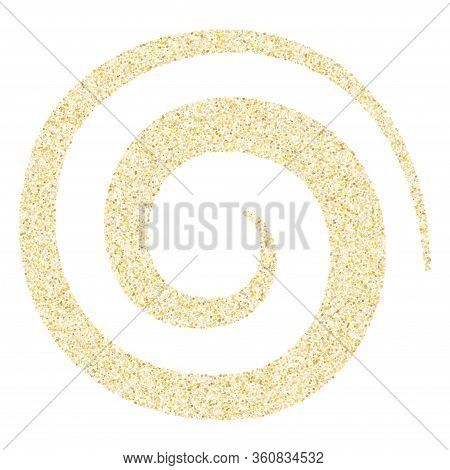 Gold Sparkles Glitter Dust Metallic Confetti Vector Background. Vintage Golden Sparkling Background.