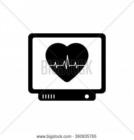 Heart Monitor Screen Icon. Vector Illustration Heartbeat, Pulse, Rhythm Heart.