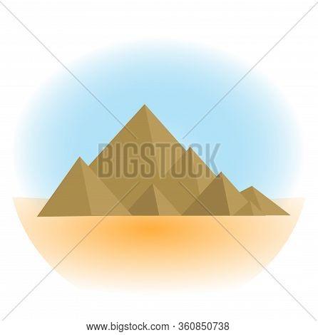 Mountain Icon, Flat, Cartoon Style. Jewish Religious Holiday Shavuot, Mount Sinai Concept. Isolated
