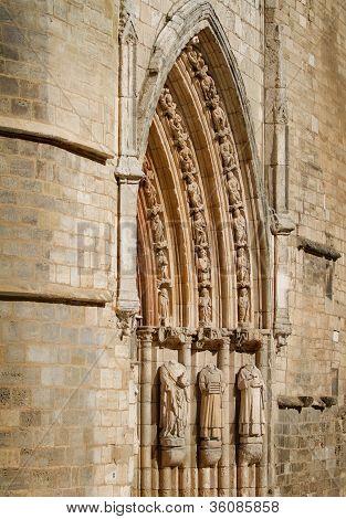 Tympanum Of San Esteban Church, Burgos. Spain