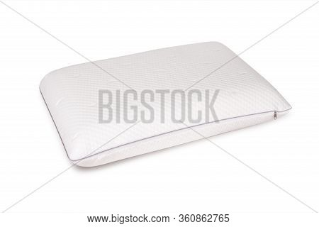 Orthopedic Pillow With A Memory Effect. Medical Treatment Pillow For Sleep. Comfort Memory Pillow Un