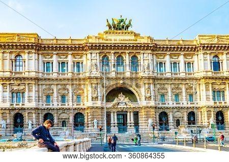 Rome, Italy - November 04 2018: Supreme Court Of Cassation (corte Suprema Di Cassazione), The Highes