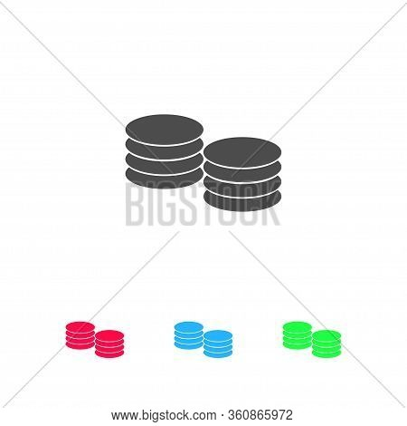 Penny Icon Flat. Color Pictogram On White Background. Vector Illustration Symbol And Bonus Icons