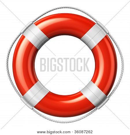 Red lifesaver belt