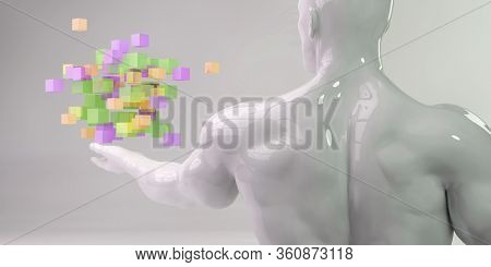 Internet World Wide Web Abstract Tech Background 3D Render