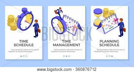 Planning Schedule Time Management Businessman Planning Work From Home With Hourglass Stopwatch Picks