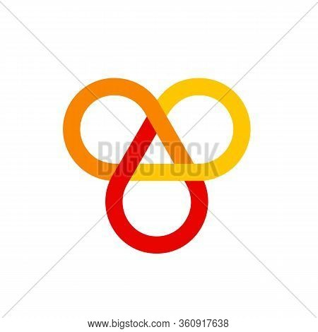 Multicolored Icon Of Infinite Knot, One Of Eight Symbols