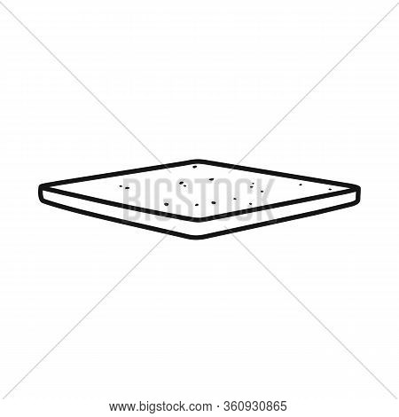 Isolated Object Of Bun And Bread Logo. Graphic Of Bun And Slice Stock Vector Illustration.