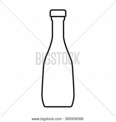 Ketchup Vector Icon.outline Vector Icon Isolated On White Background Ketchup.